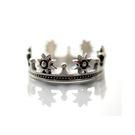 925純銀 個性款復古 日太陽皇冠 C型可調整戒指 防抗過敏 不退色