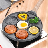 蛋煎鍋 七孔早餐鍋 多功能平底多孔煎鍋不粘蛋餃鍋早餐神器 兒童煎蛋模具 小宅君