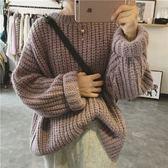 梨卡 - 秋冬氣質甜美寬鬆舒適保暖毛衣針織衫T恤上衣/3色DA012