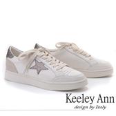 ★2019春夏★Keeley Ann我的日常生活 經典星星休閒滑板鞋(灰色)-Ann系列