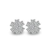 耳環 925純銀鑲鑽-耀眼迷人生日母親節禮物女飾品73dm150【時尚巴黎】