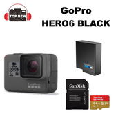 GoPro HERO6 Black 【台南-上新】 專業4K運動攝影機 64G/100MBs 4k高速記憶卡+原電含標配(共2顆) 公司貨