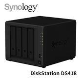 Synology 群暉科技 DiskStation DS418 4Bay NAS 網路儲存設備
