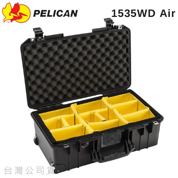 EGE 一番購】PELICAN 1535WD Air【含隔板】輕量化版防水氣密箱,拉車提箱 拉桿【公司貨】