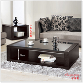 【水晶晶家具/傢俱首選】JM1759-4維達130cm黑色強化玻璃大茶几(貼附實木皮)~~小茶几另購~~降價囉