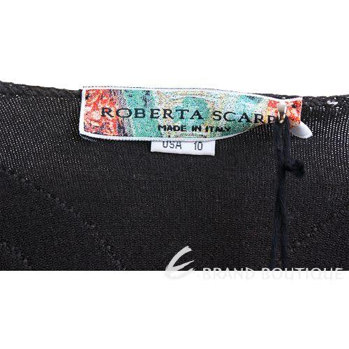 ROBERTA SCARPA 深咖啡色不規則條紋長袖上衣 0550156-90