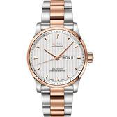 MIDO 美度 Multifort 先鋒系列經典機械手錶-銀x玫瑰金/42mm M0054312203100