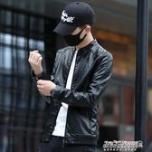 皮衣外套 新款皮衣男士外套修身韓版潮流機車服青年帥氣春秋皮夾克igo   傑克型男館