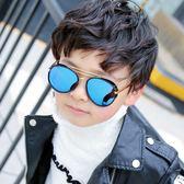 正韓兒童太陽鏡男童女童墨鏡防紫外線寶寶遮陽鏡小孩個性眼鏡潮