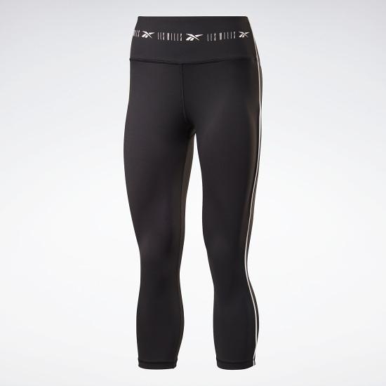 REEBOK LES MILLS® HIGH RISE 3/4 女裝 七分褲 緊身 訓練 透氣 黑【運動世界】GE1006
