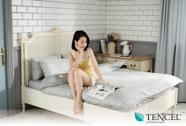 快速出貨【LORIA洛莉亞】超便宜平價天絲TENCEL天絲四件式床包組~標準雙人【律動】