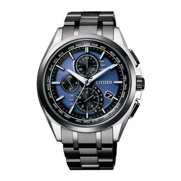 限量【分期0利率】星辰錶 CITIZEN 光動能 鈦金屬 萬年曆 電波錶 藍寶石水晶玻璃 公司貨 AT8044-72L