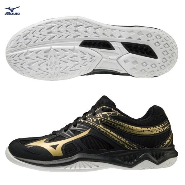 MIZUNO THUNDER BLADE 2 男鞋 排球 2.5E 中底發泡 輕量 黑金【運動世界】V1GA197052
