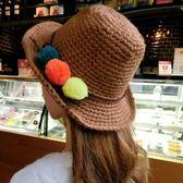 針織毛線帽-韓版潮流氣質百搭女毛帽5色73ie22[時尚巴黎]