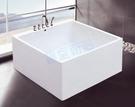 【麗室衛浴】BATHTUB WORLD 造型壓克力獨立缸 LS-1097A 130*130*58cm
