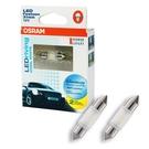 OSRAM LED 雙尖31mm 汽車室內燈6000K/6700K (2入)公司貨