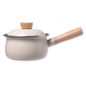 HOLA 單柄多功能調理湯鍋 1000ml 象牙白 碳鋼鍋