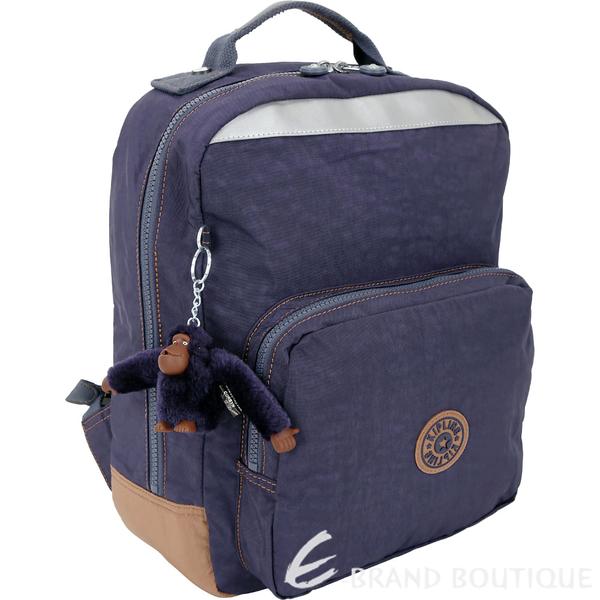 Kipling AVA K14853 中款 撞色拼接尼龍後背包(夜藍色) 1830309-34