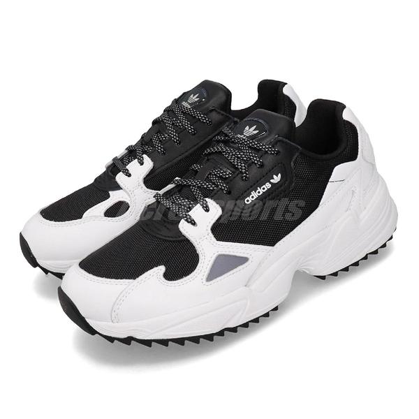 【五折特賣】adidas 休閒鞋 Falcon Trail W 白 黑 女鞋 運動鞋 老爹鞋 【ACS】 EF9024