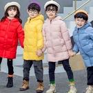 兒童羽絨棉服中長版男女童寶寶加絨加厚棉襖冬裝棉衣外套