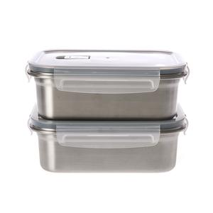 特力屋316不鏽鋼密封保鮮盒1200ml-2入