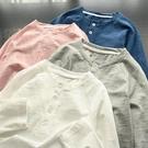 兒童竹節棉上衣 兒童竹節棉長袖T恤 男童女童純色打底衫 中大童上衣 童裝 春秋款-Ballet朵朵