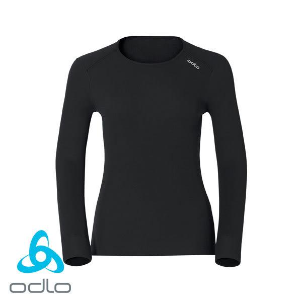 瑞士 ODLO Warm 長袖圓領保暖型排汗衣內衣 女款 黑 #152021