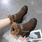 馬丁靴女英倫風新款秋季學生韓版百搭chic厚底雪地靴短筒女鞋 衣櫥秘密