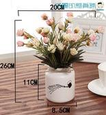 歐式仿真玫瑰花客廳居家盆栽擺設【洛麗的雜貨鋪】