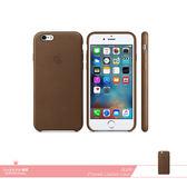 APPLE蘋果 原廠iPhone 6 / 6S 專用 皮革護套-棕色 /手機保護殼 /防護背蓋 /防震硬殼保護套