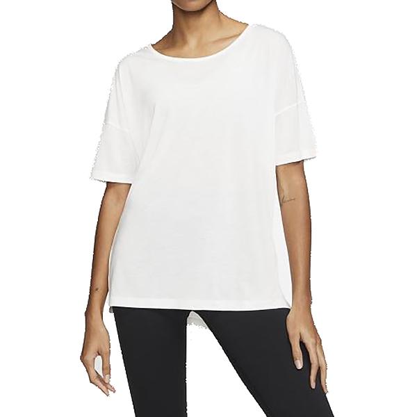 NIKE NY DF LAYER SS TOP 白 女 長版 素色 寬鬆 運動 休閒 短袖 T恤 CJ9327121