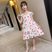 吊帶裙 女童洋裝夏裝新款中大童雪紡裙女孩溫柔風吊帶裙公主背心裙