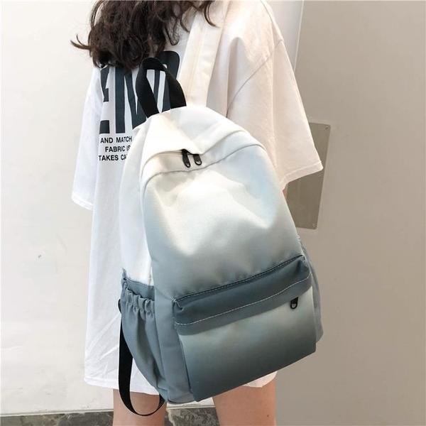 後背包 韓版ins風學生日系背包古著感少女漸變森系百搭韓版雙肩包女書包 百分百
