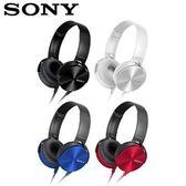 [富廉網] 【SONY】MDR-XB450AP 耳罩式重低音立體聲耳機 黑/白/藍/紅