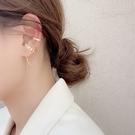 現貨 韓國冷淡風簡約百搭金屬感C字流蘇鍊條不對稱耳線耳骨夾 S93826 批發價 Danica 韓系飾品