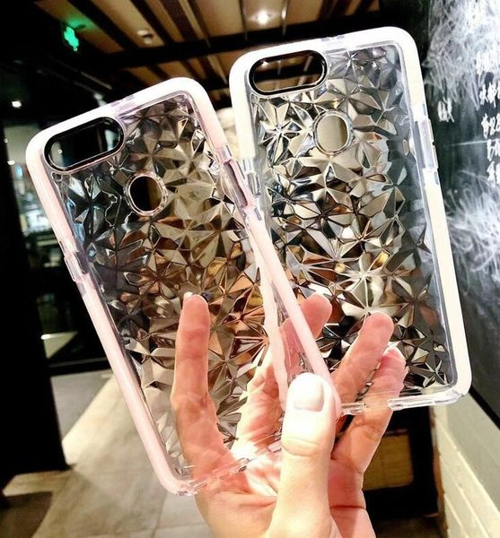 【SZ62】拼色鑽石紋全包 oppo r15手機殼 oppo r15 pro手機殼 oppo r11手機殼 oppo r9s plus手機殼