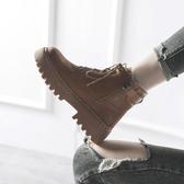 短靴復古加絨馬丁靴女2019潮秋冬季秋鞋chic百搭英倫風網紅學生短靴子