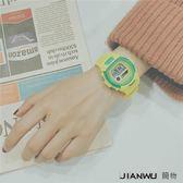 韓版日系原宿潮運動糖果色日韓時尚手錶