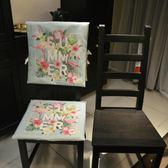 布藝椅子套棉麻凳子套餐椅墊家用座椅套酒店【極簡生活館】