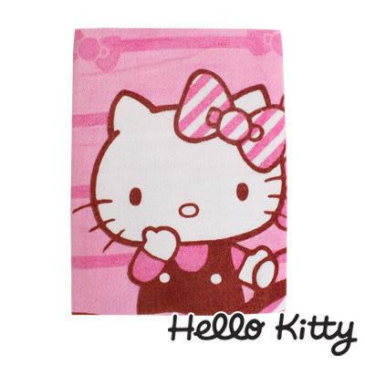 Sanrio三麗鷗Hello Kitty系列-凱蒂貓斜紋蝴蝶結大浴巾