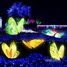 仿真蝴蝶雕塑戶外發光園林景觀小品花園房地產玻璃鋼動物擺件裝飾「時尚彩紅屋」