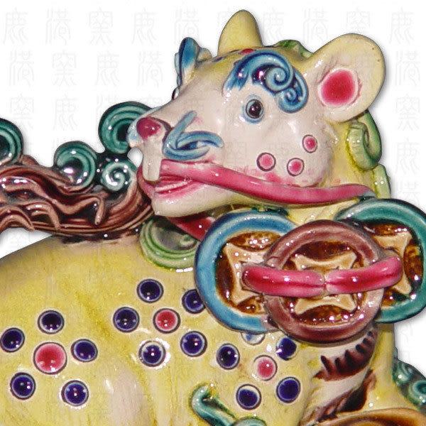鹿港窯-居家開運商品-台灣國寶交趾陶S十二生肖-鼠◆附精美包裝◆免運費送到家