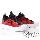 ★2018秋冬★Keeley Ann休閒假期~拼接網布綁帶休閒鞋(紅色) -Ann系列