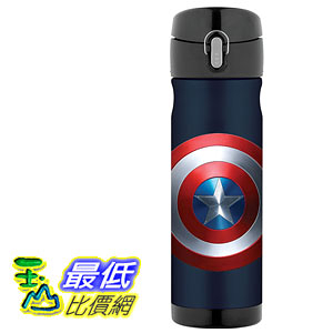 [106美國直購] Thermos Captain America 美國隊長 16 Ounce 不鏽鋼保溫運動水壺