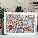 1000片拼圖框51x73.5太陽花機器貓拼圖帶白邊裝裱相框錶框【白嶼家居】