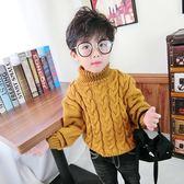 男童高領毛衣新款秋女童兒童套頭線衣加厚寶寶針織衫冬裝【交換禮物】