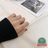 簡約冷淡風戒指女珍珠食指戒時尚套裝指環個性尾戒【福喜行】