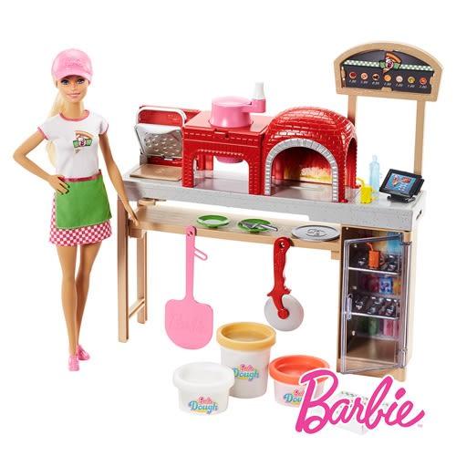 Barbie 芭比娃娃 芭比比薩廚師遊戲組 美泰兒正貨 麗翔親子館