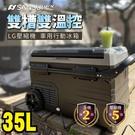 丹大戶外【SANSUI】山水 LG壓縮機 車用雙槽雙溫控行動冰箱動冰箱35公升SL-G35 小冰箱/露營用