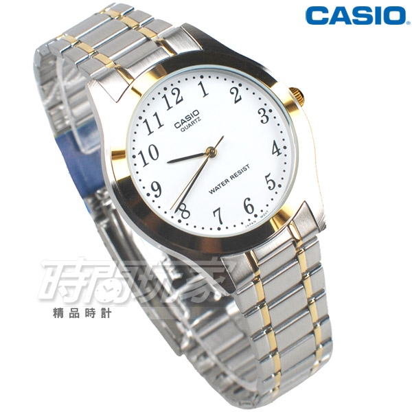CASIO卡西歐 MTP-1128G-7B 公司貨 經典簡約時尚精緻紳士腕錶 男錶 防水手錶 半金色 MTP-1128G-7BRDF